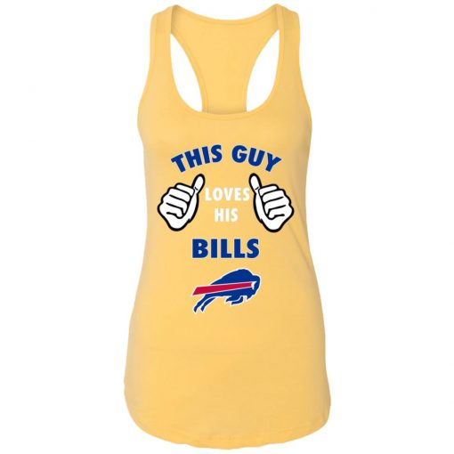 This Guy Loves Buffalo Bills Racerback Tank