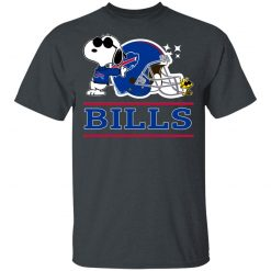 The buffalo Bills Joe Cool And Woodstock Snoopy Mashup Men's T-Shirt