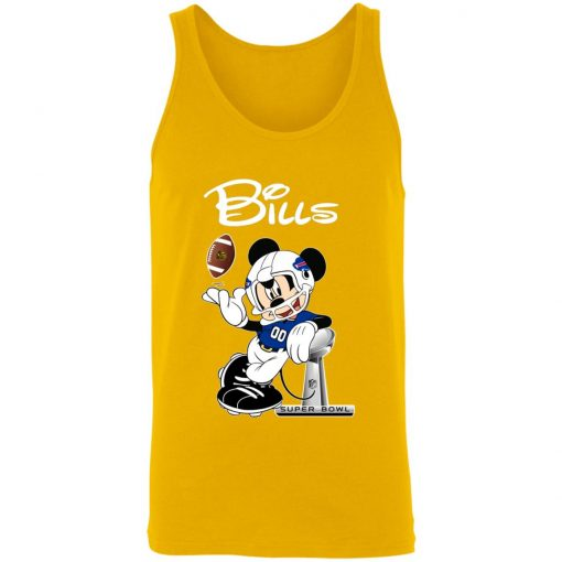 Mickey Bills Taking The Super Bowl Trophy Football 3480 Unisex Tank
