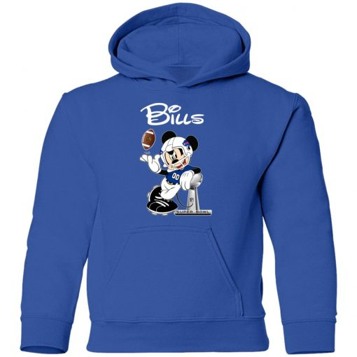 Mickey Bills Taking The Super Bowl Trophy Football Youth Hoodie