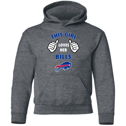 This Girl Loves Buffalo Bills Youth Hoodie