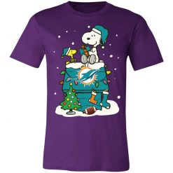 A Happy Christmas With Miami Dolphins Snoopy Shirts Unisex Jersey Tee