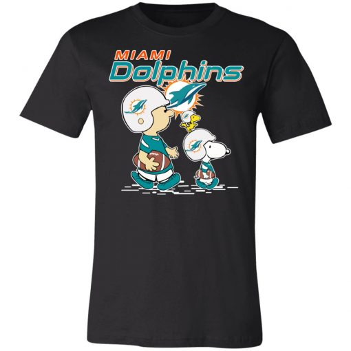 Miami Dolphins Let's Play Football Together Snoopy NFL Unisex Jersey Tee
