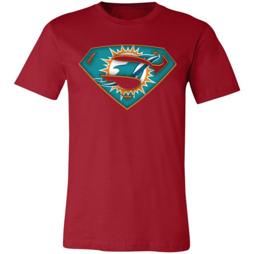 We Are Undefeatable The Miami Dolphins x Superman NFL Unisex Jersey Tee