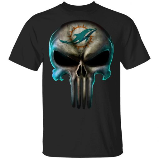 Miami Dolphins The Punisher Mashup Football Men's T-Shirt