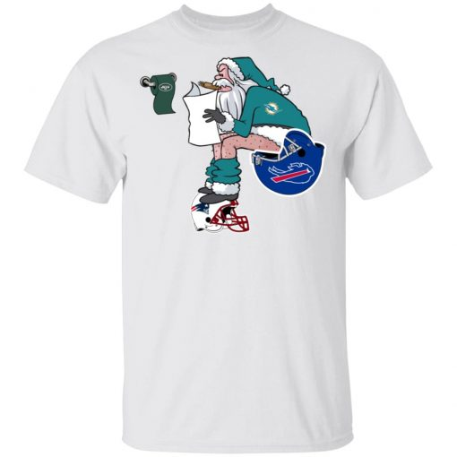 Santa Claus Miami Dolphins Shit On Other Teams Christmas Men's T-Shirt