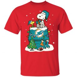 A Happy Christmas With Miami Dolphins Snoopy Shirts Youth's T-Shirt