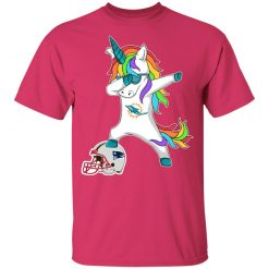 Football Dabbing Unicorn Steps On Helmet Miami Dolphins Youth's T-Shirt