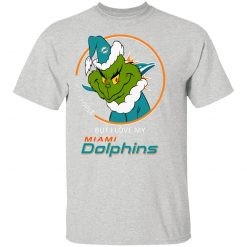 I Hate People But I Love My Miami Dolphins Grinch NFL Youth's T-Shirt