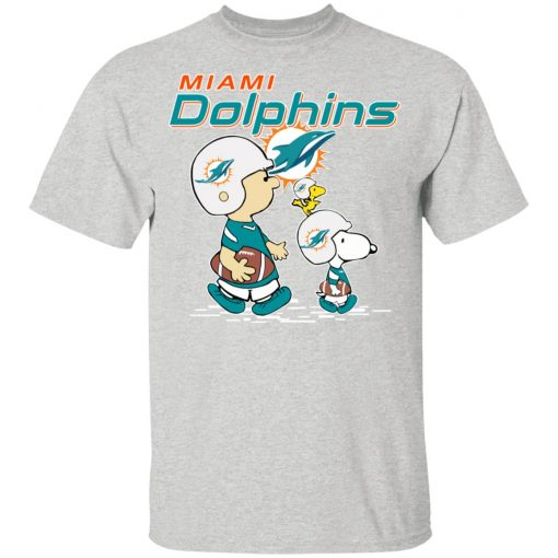 Miami Dolphins Let's Play Football Together Snoopy NFL Youth's T-Shirt