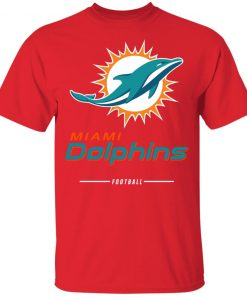 Miami Dolphins NFL Pro Line White Team Lockup Youth's T-Shirt