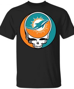 NFL Team Miami Dolphins x Grateful Dead Logo Band Youth's T-Shirt