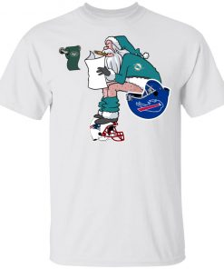 Santa Claus Miami Dolphins Shit On Other Teams Christmas Youth's T-Shirt
