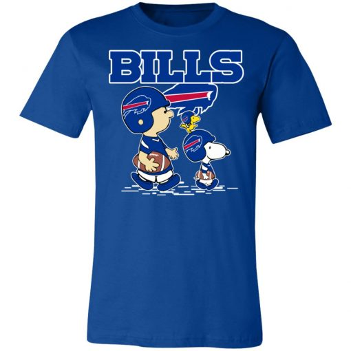 Buffalo Bills Let's Play Football Together Snoopy NFL Unisex Jersey Tee