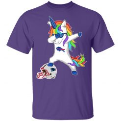 Football Dabbing Unicorn Steps On Helmet Buffalo Bills Youth's T-Shirt