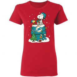 A Happy Christmas With Miami Dolphins Snoopy Shirts Women's T-Shirt