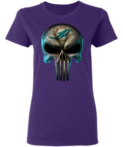 Miami Dolphins The Punisher Mashup Football Women's T-Shirt