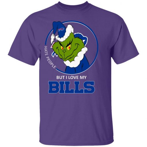 I Hate People But I Love My Buffalo Bills Grinch NFL Youth's T-Shirt