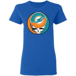 NFL Team Miami Dolphins x Grateful Dead Logo Band Women's T-Shirt