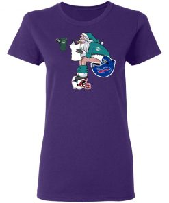 Santa Claus Miami Dolphins Shit On Other Teams Christmas Women's T-Shirt
