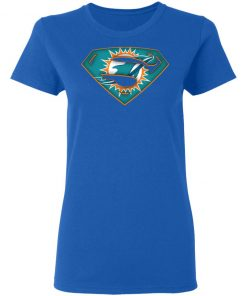We Are Undefeatable The Miami Dolphins x Superman NFL Women's T-Shirt