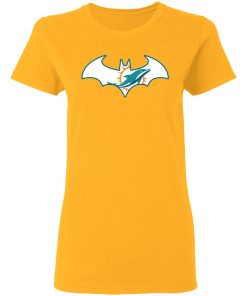 We Are The Miami Dolphins Batman NFL Mashup Women's T-Shirt