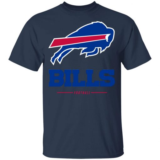Men_s Buffalo Bills NFL Pro Line White Team Lockup T-Shirt Youth's T-Shirt