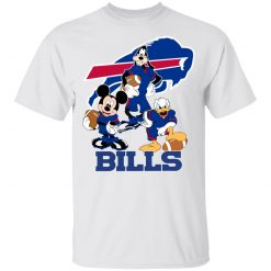 Mickey Donald Goofy The Three Buffalo Bills Football Youth's T-Shirt