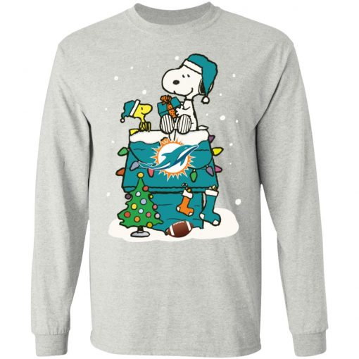 A Happy Christmas With Miami Dolphins Snoopy Shirts LS T-Shirt