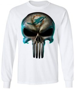 Miami Dolphins The Punisher Mashup Football LS T-Shirt
