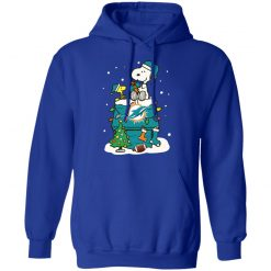 A Happy Christmas With Miami Dolphins Snoopy Shirts Hoodie