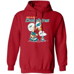 Miami Dolphins Let's Play Football Together Snoopy NFL Hoodie