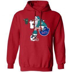 Santa Claus Miami Dolphins Shit On Other Teams Christmas Hoodie