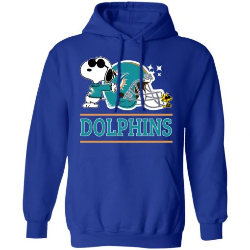 The Miami Dolphins Joe Cool And Woodstock Snoopy Mashup Hoodie