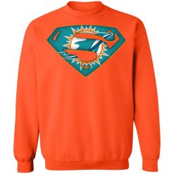 We Are Undefeatable The Miami Dolphins x Superman NFL Sweatshirt