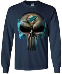 Miami Dolphins The Punisher Mashup Football Youth LS T-Shirt