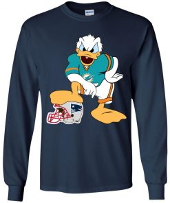 You Cannot Win Against The Donald Miami Dolphins NFL Youth LS T-Shirt