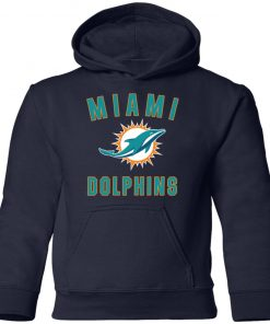 Miami Dolphins NFL Pro Line by Fanatics Branded Aqua Vintage Victory Youth Hoodie