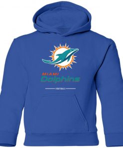 Miami Dolphins NFL Pro Line White Team Lockup Youth Hoodie