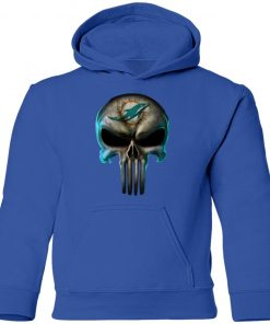 Miami Dolphins The Punisher Mashup Football Youth Hoodie