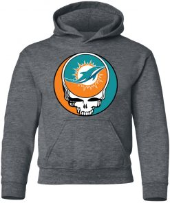 NFL Team Miami Dolphins x Grateful Dead Logo Band Youth Hoodie