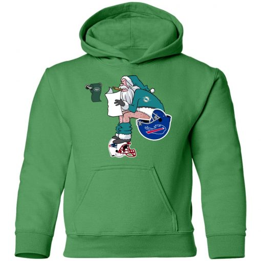 Santa Claus Miami Dolphins Shit On Other Teams Christmas Youth Hoodie