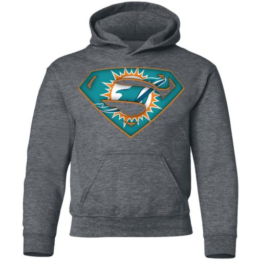 We Are Undefeatable The Miami Dolphins x Superman NFL Youth Hoodie