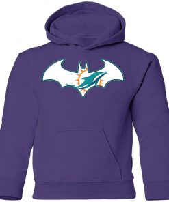 We Are The Miami Dolphins Batman NFL Mashup Youth Hoodie