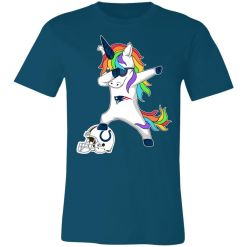 Football Dabbing Unicorn Steps On Helmet New England Patriots Unisex Jersey Tee