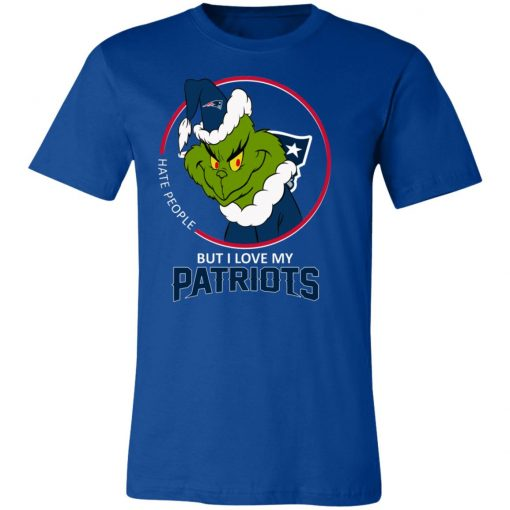 I Hate People But I Love My New England Patriots Grinch NFL Unisex Jersey Tee