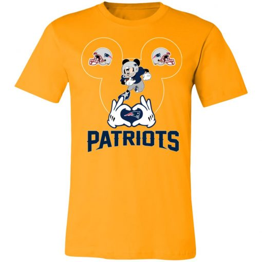 I Love The Patriots Mickey Mouse New England Patriots Unisex Jersey Tee