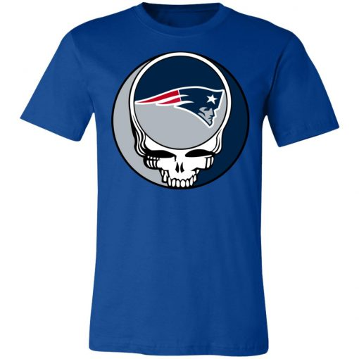 NFL Team New England Patriots x Grateful Dead Logo Band Shirts Unisex Jersey Tee