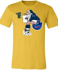 Santa Claus New England Patriots Shit On Other Teams Christmas Unisex Jersey Tee