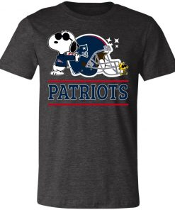 The New England Patriots Joe Cool And Woodstock Snoopy Mashup Unisex Jersey Tee